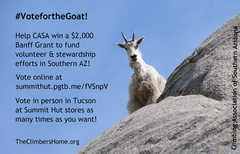 Rock Climbing Photo: #VotefortheGoat!  --  Thanks for supporting CASA.