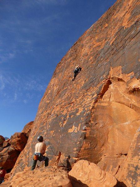 Rock Climbing Photo: First lead...awesome February day