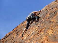 Rock Climbing Photo: Easy top-out.  Clips at the top bolts were a great...