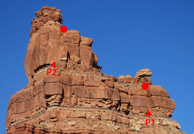 Rock Climbing Photo: The route as seen from the VOG Loop Road.