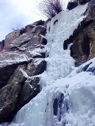 Rock Climbing Photo: Late January 2015, main flow.