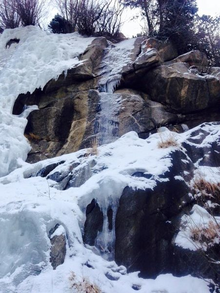 Rock Climbing Photo: Late January 2015, right side of main flow.