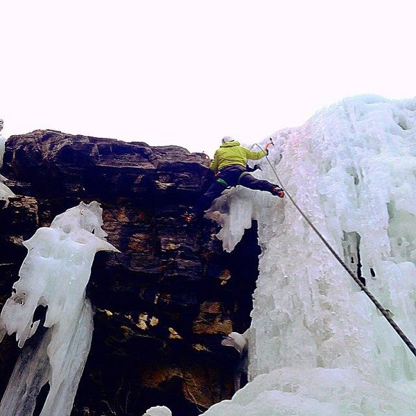 Rock Climbing Photo: Mixing it up on the upper flow, December 2014.