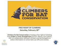 Join us Feb 28th for free climbing at Inner Strength Gym.