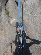 Rock Climbing Photo: stuck rope