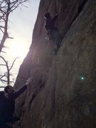 Rock Climbing Photo: Me redpointing Power Series. This route is amazing...