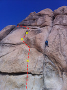 Rock Climbing Photo: Young, overly-strong climber leading Bridwell-Sust...