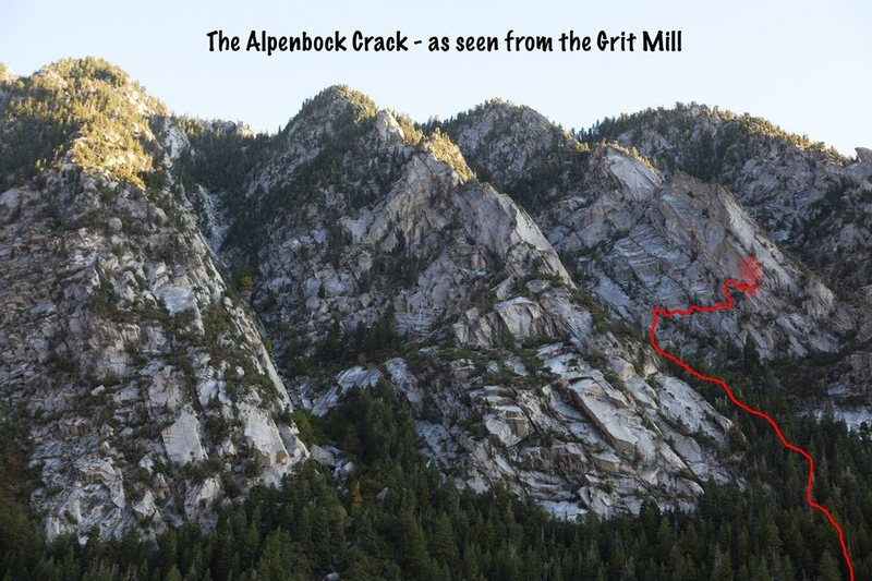Rock Climbing Photo: Park at the grit mill, and use this pic for refere...