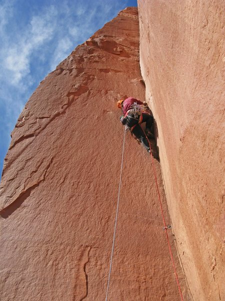 Emily enjoys the glory hand section of the 2nd pitch.