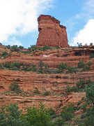 Rock Climbing Photo: The Lookout Tower, as seen from the Fay Canyon Tra...
