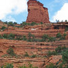 The Lookout Tower, as seen from the Fay Canyon Trail. The west face is around the left side, just out of the picture.