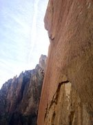 Rock Climbing Photo: Chris taking one of the bigger whips on the slab o...