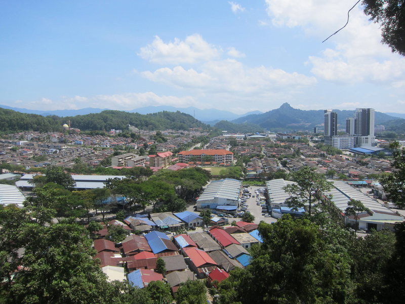 View eastward over the kampung neighborhood