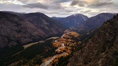 Rock Climbing Photo: Fall colors from the top of P9