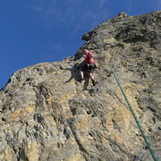 Rock Climbing Photo: Mike Arechiga on, West Face 5.10b