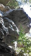 Rock Climbing Photo: Draws are faintly visible on the left side of the ...