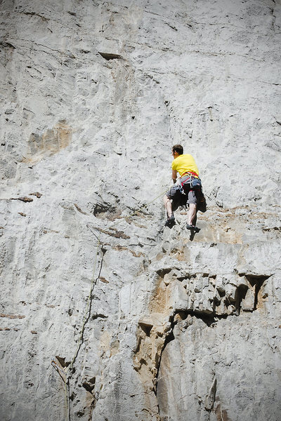 Rock Climbing Photo: Starting up the route