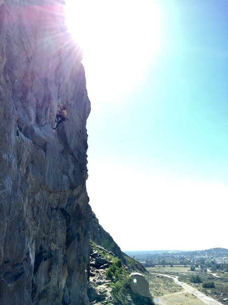 Rock Climbing Photo: Me on House of Pain 5.12a/b