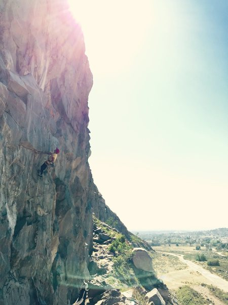 Me on House of Pain 5.12a/b on my send 2/25/15