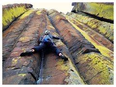 Rock Climbing Photo: great 11a crack!