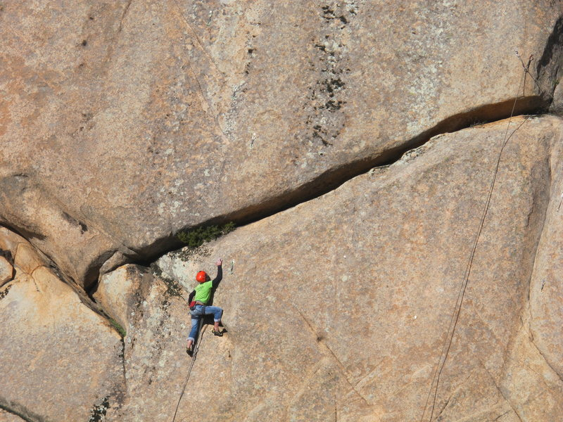 5.11b, great friction route in 3 Coronas
