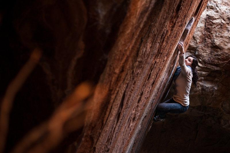 Rock Climbing Photo: Gabi Enos (justgoclimb.com) on Denizen. Photo by A...