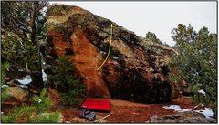 Rock Climbing Photo: Basic Channeldom problem beta.