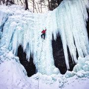 Rock Climbing Photo: Buttermilk, top pitch.