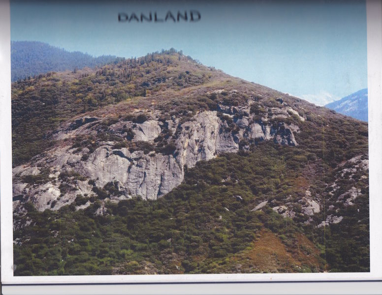 Rock Climbing Photo: view of Danland from across the canyon