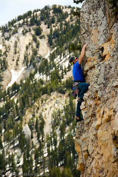 Rock Climbing Photo: Fun, steep climbing at altitude!