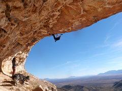 Rock Climbing Photo: Luke near the crux