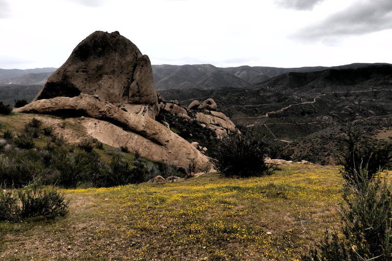 "A ""mood"" shot of the rocks."