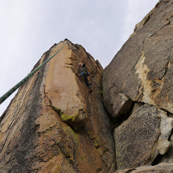 Mike Arechiga on, Golden Eye Area, 5.10c