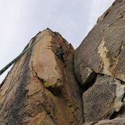 Rock Climbing Photo: Mike Arechiga on, Golden Eye Area, 5.10c