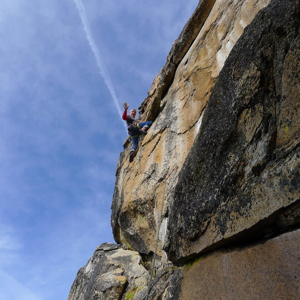 Mike Arechiga on, Thunderbolt,5.10a.