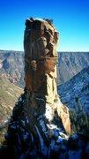Rock Climbing Photo: The Bear Gun from above the saddle