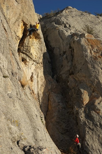 Rock Climbing Photo: lovers leap 7a+