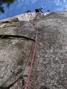 Rock Climbing Photo: Jessica cool head Todd leads.