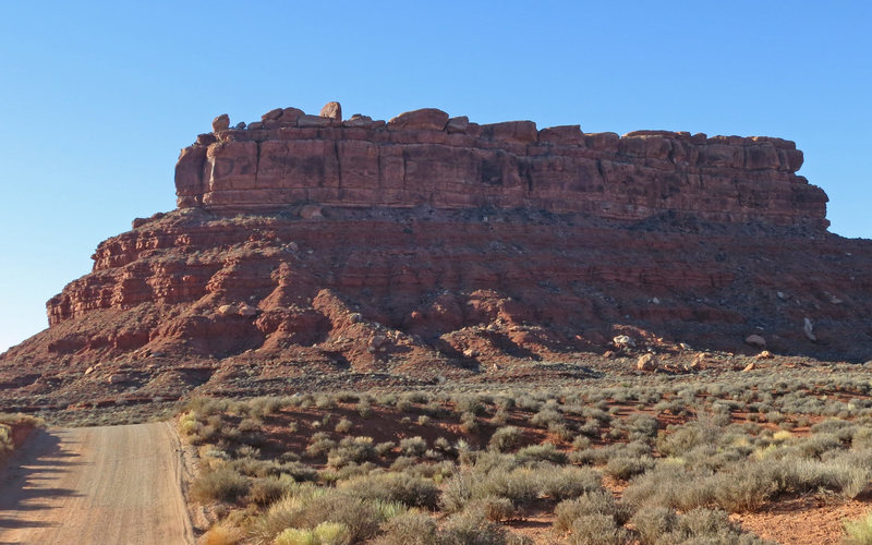 The north aspect of Juniper Butte, as seen on the drive in.