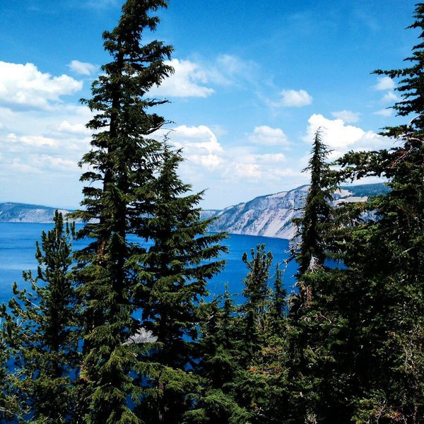 View from the rim at Crater Lake