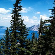 Rock Climbing Photo: View from the rim at Crater Lake
