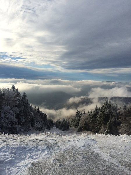 "From ""The top of the world"" at Snowshoe, WV"