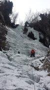 Rock Climbing Photo: Last pitch GWI 2-28-15