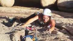 Rock Climbing Photo: Wife on Almost vertical 5.7