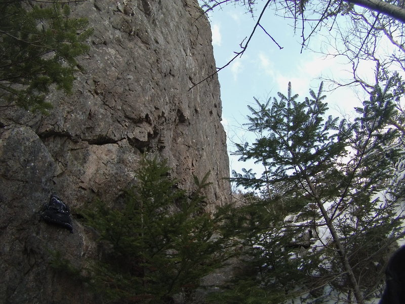Rock Climbing Photo: Part of cliff
