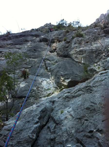 Rock Climbing Photo: Rope is on Chicharrones, and Kris is cleaning the ...