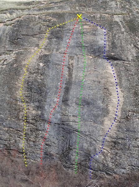 Rock Climbing Photo: East Side Slab topo