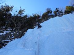 Rock Climbing Photo: Nick Pearson leading pitch 1.
