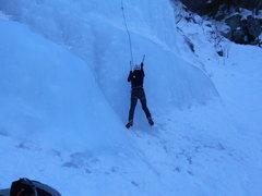 Rock Climbing Photo: Unknown climber beggining the climb.