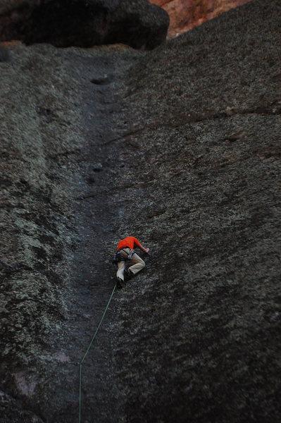 Rock Climbing Photo: Mike Hoffman on lead.